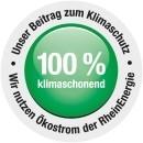 100% Ökostrom by RheinEnergie